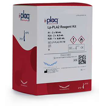 i-plaq Test for LP-PLA2 kit box with with reagent bottles and substrate vial